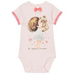 United Colors of Benetton Printed Baby Body Ljusrosa