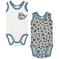 United Colors of Benetton 2-Pack Sleeveless Printed Baby Body Cream/Grey Cream Grey