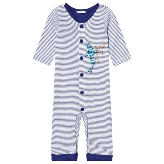 United Colors of Benetton Stripe Overall Button Front Sea Life Print (pyjamas) Blue Blue