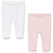 United Colors of Benetton Footed Pants Polka Dot Pink/White Pink White