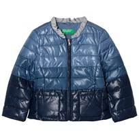 United Colors of Benetton Fade Dye Puffer Jacka Marinblå Navy