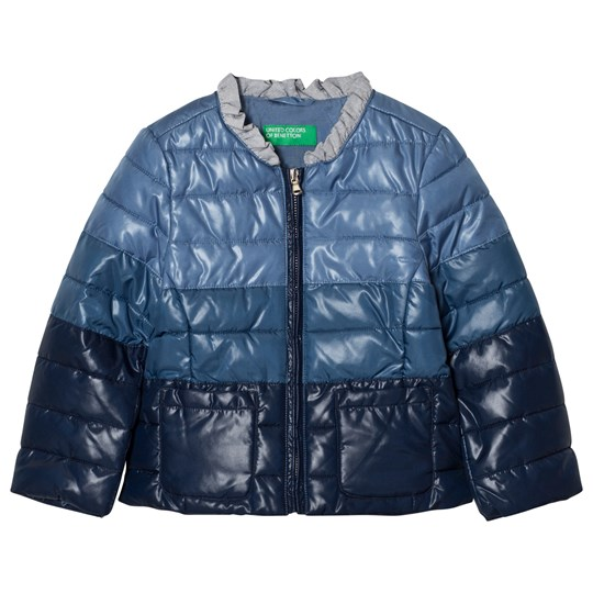 United Colors of Benetton Fade Dye Puffer Jacket Navy Navy