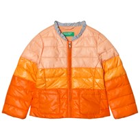 United Colors of Benetton Fade Dye Puffer Jacket Orange Oranssi