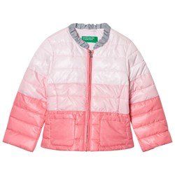 United Colors of Benetton Fade Dye Puffer Jacka Rosa