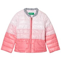 United Colors of Benetton Fade Dye Puffer Jacket Pink Pink