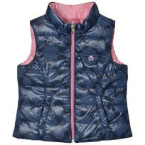 United Colors of Benetton Reversible Print Puffer Vest Navy Navy