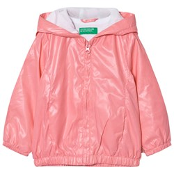 United Colors of Benetton Zip Hooded Jacka Candy Pink