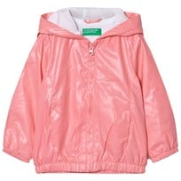 United Colors of Benetton Zip Hooded Jacket Candy Pink Candy Pink