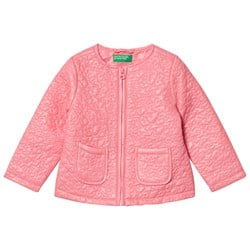 United Colors of Benetton Light Weight Star Puffa Jacka Candy Pink