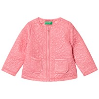 United Colors of Benetton Light Weight Star Puffa Jacket Candy Pink Candy Pink