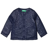 United Colors of Benetton Light Weight Star Puffa Jacket Navy Navy