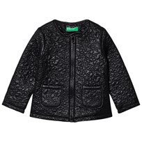 United Colors of Benetton Light Weight Star Puffa Jacket Black Black