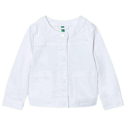 United Colors of Benetton Cropped Denim Jacket White White