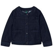 United Colors of Benetton Cropped Denim Jacket Navy Navy
