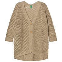 United Colors of Benetton Loose Knit Cardigan Beige бежевый