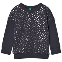 United Colors of Benetton Glitter Star Print Sweater Dark Grey Dark grey