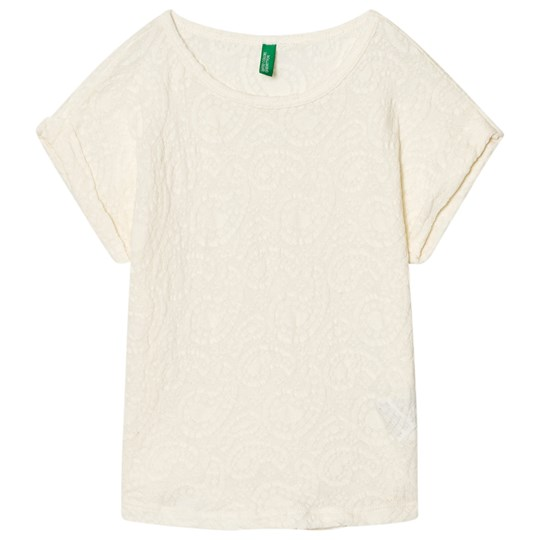 United Colors of Benetton Textured Tee Off White Off white