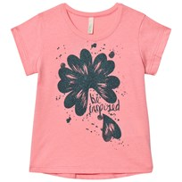 United Colors of Benetton Glitter Flower Print T-shirt Candy Pink Candy Pink