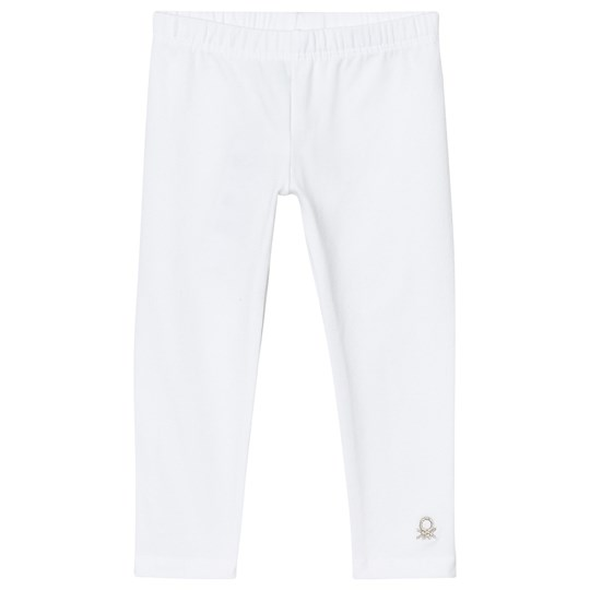 United Colors of Benetton Classic White Leggings with Logo White