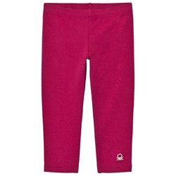 United Colors of Benetton Classic Logo Leggings Cherry Pink