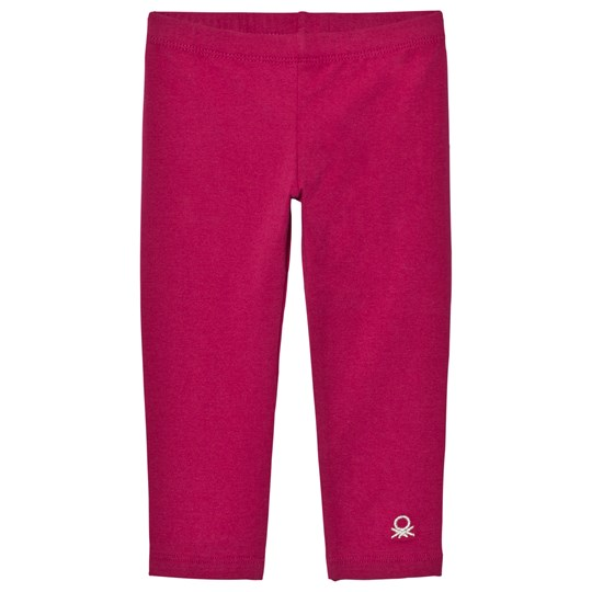 United Colors of Benetton Classic Cherry Pink Leggings with Logo Cherry Pink