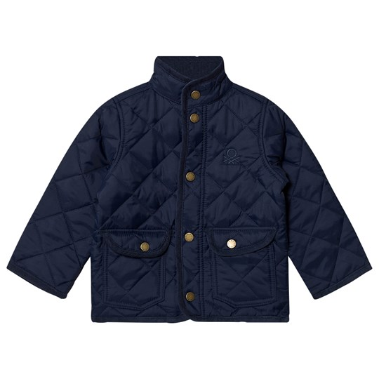 United Colors of Benetton Classic Quilted Barn Jacket Navy Navy