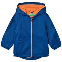 United Colors of Benetton Zip Hooded Jacket Blue Blue