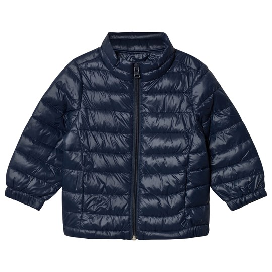 United Colors of Benetton Classic Zip Puffa Jacket Navy Navy