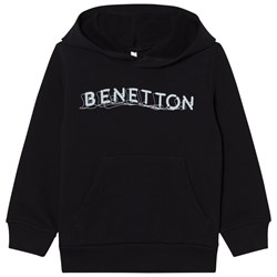 United Colors of Benetton Basic Logo Hoodie With Front Pocket Black