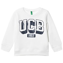United Colors of Benetton Logo Sweatshirt White White