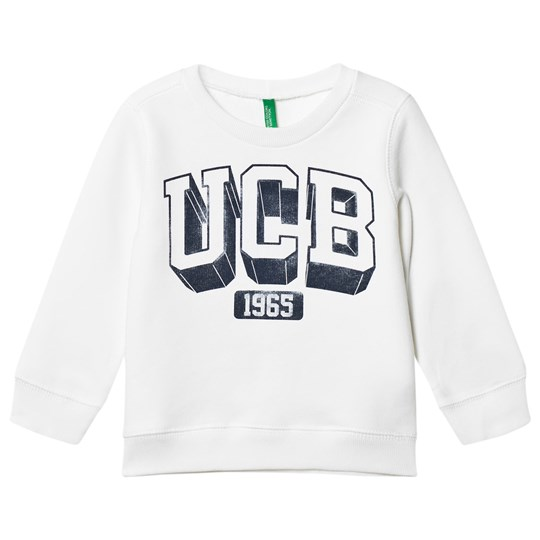United Colors of Benetton Basic Jersey Logo Sweater L/s White White