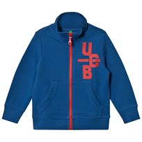United Colors of Benetton Logo Zip Jacket Blue Blue
