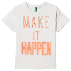 United Colors of Benetton S/s Make It Happen Print T-shirt Light Grey