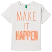 United Colors of Benetton Make It Happen Print T-shirt Ljusgrå Light Grey
