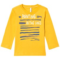 United Colors of Benetton Graphic Print Long Sleeve T-Shirt Yellow Yellow