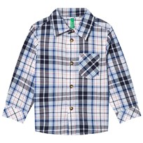 United Colors of Benetton Casual Check Shirt Navy NAVY MULTI