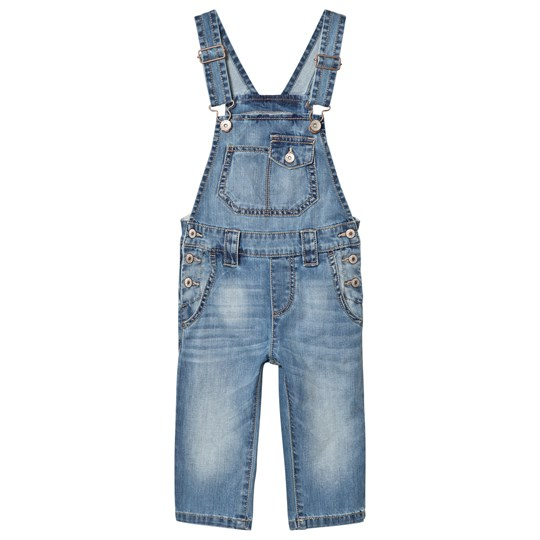 United Colors of Benetton Light Wash Denim Dungarees Blue Blue