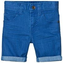 United Colors of Benetton Stretch Colored Denim Shorts Blue Blue