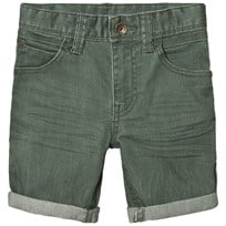 United Colors of Benetton Stretch Colored Denim Shorts Khaki Khaki