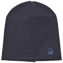 United Colors of Benetton Classic Beanie Hat with Logo Detail Navy Navy