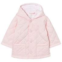 United Colors of Benetton Quilted Back Jacket with Hood Light Pink Light Pink