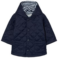 United Colors of Benetton Quilted Back Jacket with Hood Navy Navy