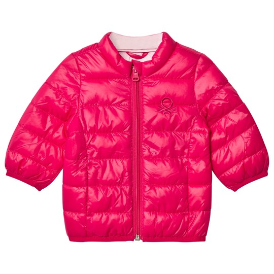 United Colors of Benetton Puffa Jacket Pink Pink