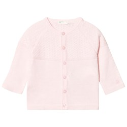 United Colors of Benetton L/s Knit Cardigan With Logo Detail Light Pink