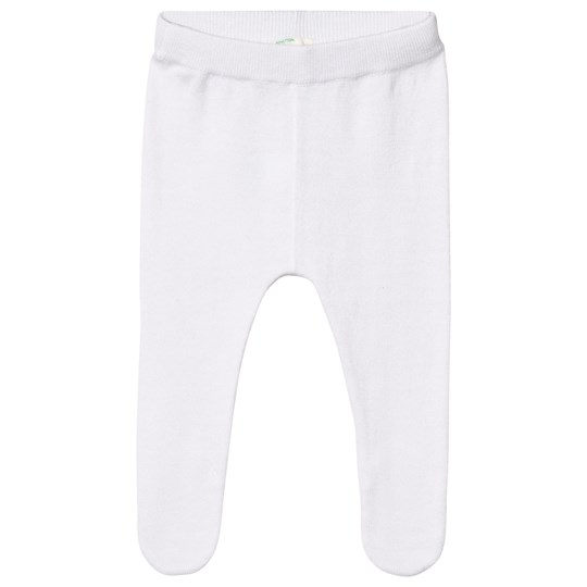 United Colors of Benetton Knit Pants With Closed Feet White White