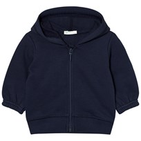 United Colors of Benetton Jersey Zip Hooded Jacket with Ears Navy Navy
