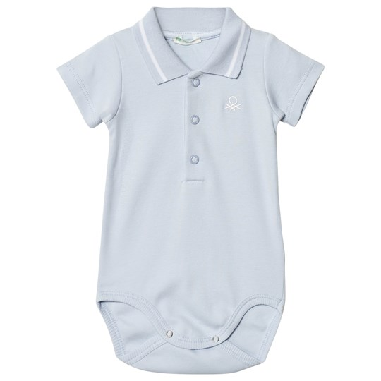 United Colors of Benetton Classic Logo Polo Baby Body Light Blue Light Blue