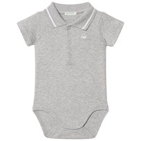 United Colors of Benetton Classic Logo Polo Baby Body Grey Sort