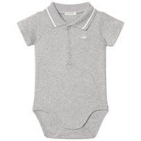 United Colors of Benetton Classic Logo Polo Baby Body Grey Black