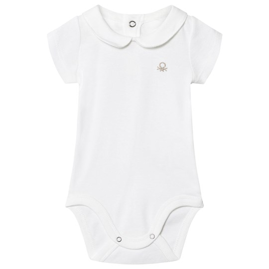 United Colors of Benetton Classic Logo Baby Body Vit White